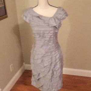 LONDON times size 8 gray formal dress